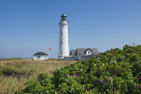 Denmark, View of lighthouse at town - HWOF000045