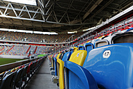 Germany, Dusseldorf, Soccer stadium seats - JAT000081