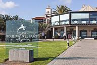 Spain, View of Lopesan Restaurant and shopping center at Maspalomas - MAB000102