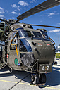 Germany, Laupheim, CH-53-Helicopter in ISAF-configuration with Engine Air Particle Separators and machine gun - HA000159