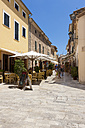 Spain, Mallorca, View of Street booths in old town of Alcudia - AM000325