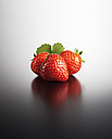 Strawberries on coloured background, close up - KSW001141
