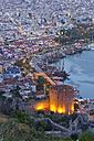 Turkey, Alanya, View of Kizil Kule tower - SIE004028