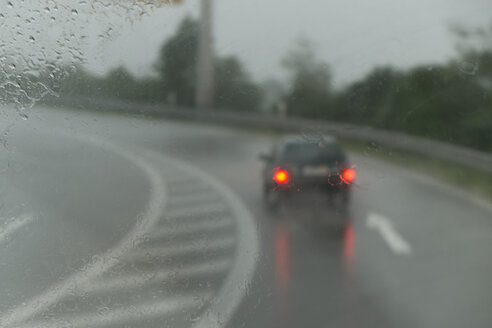 Germany, View through windshield of moving car - LA000089