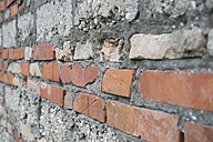 Italy, Construction of house building with brick - CRF002431