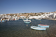Greece, Mykonos, Harbour with small fishing boats - SKF001297