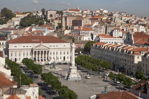 Portugal, Lisbon, View of Rossio Square - SKF001307