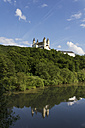 Germany, Rhineland Palatinate, View of Arnstein Abbey at Lahn River - CSF019713