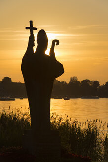 Germany, Statue of Holy Pirmin at sunset - SH000838