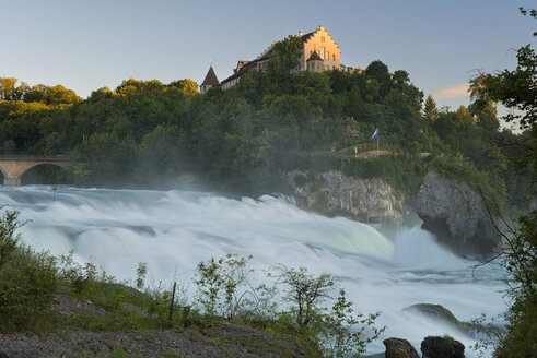 Switzerland, Schaffhausen, View of waterfall near Laufen castle - SH000841