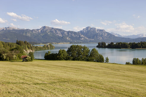 Germany, Bavaria, View of idyllic landscape at Forggensee - SKF001348