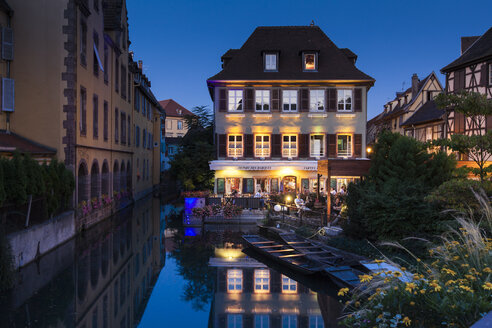 France, Colmar, View of Venice Petite with restaurant - AM000651