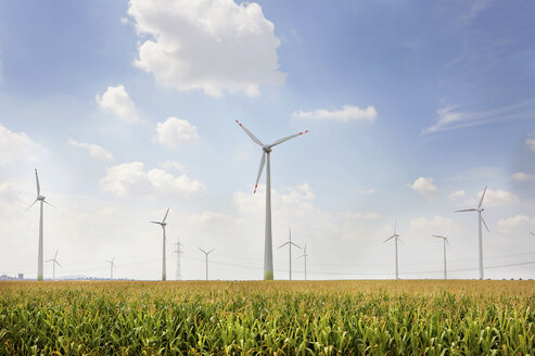 Germany, View of wind turbine on field - SKF001379