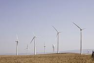 Spain, View of wind turbine on field - SKF001375