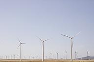 Spain, View of wind turbine on field - SKF001378