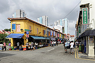 Asia, Singapore, Singapore, Little India, street with shops in the Indian district - MIZ000425