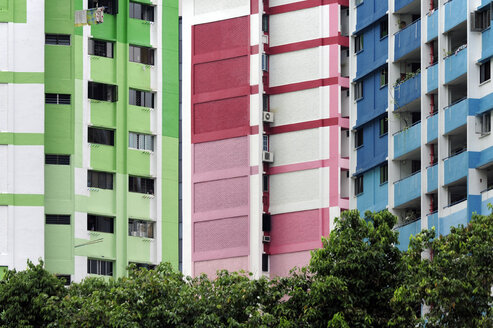 Asia, Singapore, Singapore, Rochor Centre, colourful housing - MIZ000431