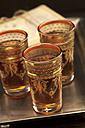 Black tea in glasses, close up - OD000204