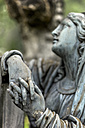 Austria, Linz, Statue at cemetery - EJW000218