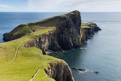 United Kingdom, Scotland, View of lighthouse in Neist Point - ELF000239