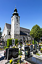 Austria, Upper Austria, View of graveyard and Basilica Of Saint Lawrence - EJW000226