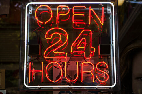 Neon sign open 24 hours - SKF001507