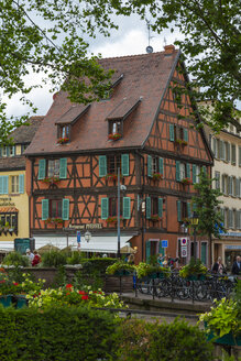 France, Timber framed house in old town - MAB000144