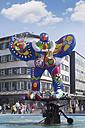 Germany, Norh Rhine Westphalia, Duisburg, View of Fountain Lifesaver - CS019742