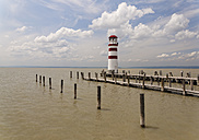 Austria, Burgenland, View of lighthouse at Lake Neusiedl - GF000147