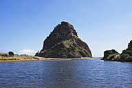 New Zealand, View of Lion rock at Piha beach - GWF002316