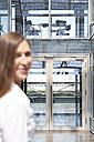 Businesswoman in front of office building - KFF000169
