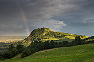Germany, Baden Wuerttemberg, Constance, View of Hegau landscape with rainbow - ELF000305