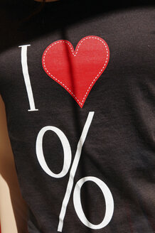 Germany, T-shirt for sales promotion, close up - HOHF000195