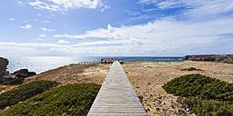 Portugal, Lagos, Boardwalk near Carrapateira - WDF001849