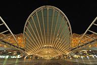 Portugal, Lisbon, View of Gare do Oriente railway station - RUE001122