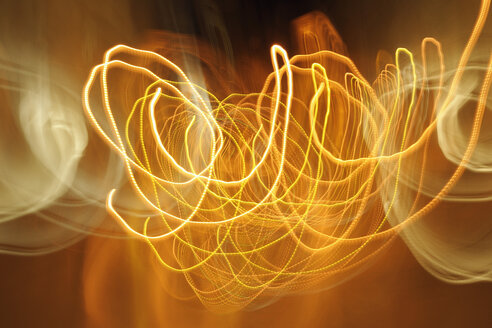 Portugal, Lisbon, Abstract light trails - RUEF001138