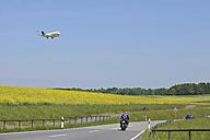 Switzerland. Zurich, Aeroplane landing at airport - RUE001145