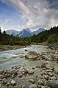 Austria, Tyrol, Karwendel Mountains, Risstal, Rissbach stream in Eng - GFF000219