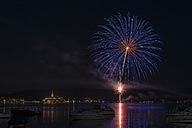 Germany, Baden Wuerttemberg, View of fireworks at Lake Constance - ELF000357