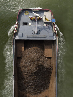 Germany, Rhineland Palatinate, Mainz, Transport vessel for raw material like iron oxide - BSC000347