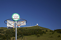 France, View of road sign near Grand ballon - DHL000020