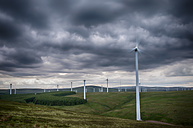 United Kingdom, Scotland, View of wind turbine at Dunbar - SMA000173