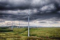 United Kingdom, Scotland, View of wind turbine at Dunbar - SMAF000159