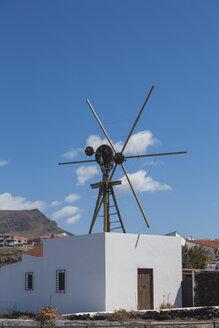 Spain, View of wind mill at Puerto de las Nieves - MAB000155