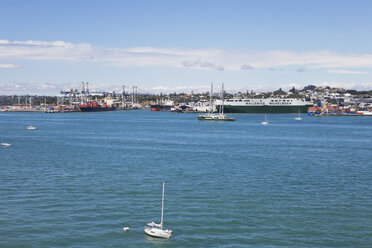 New Zealand, Auckland, View of New Rainbow Warrior - GWF002389