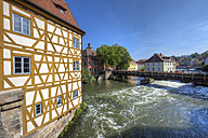 View from the Old Town Hall on the Regnitz, Bamberg, Bavaria, Germany - AM000904