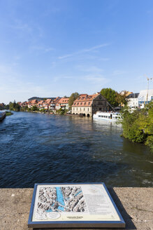 Overview of the old town of Bamberg on a map, Bamberg, Bavaria, Germany, Europe - AM000908