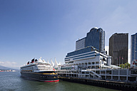 Canada, British Columbia, Vancouver, Cruise liner at Canada Place - FO005212