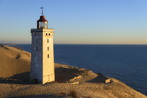 Denmark, View of Rubjerg Knude Lighthouse at North Sea - HHEF000046
