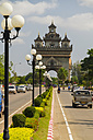 Loas, Vientiane, View of Patuxai Victory Monument - MBE000716